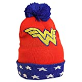 Gorro con borla de Wonder Woman DC Comics rojo azul