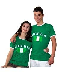 BRUBAKER Nigeria Fan T-Shirt Grün Gr. S - XXXL