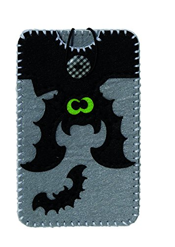 Kleiber + Co.GmbH Hülle + Zubehör M 8, 2x13, 5 cm Fledermaus Filz Smartphone-Tasche, Fliz, Grau/schwarz 22 x 10,5 x 1 cm