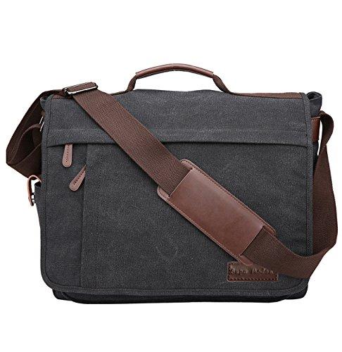 en Schultertasche Laptoptasche von Supa Moden, 14-17 Zoll Laptop Tasche Messenger Bag Arbeitstaschen Businesstasche Ordner Arbeit Uni Reise Sport Schulranzen ()