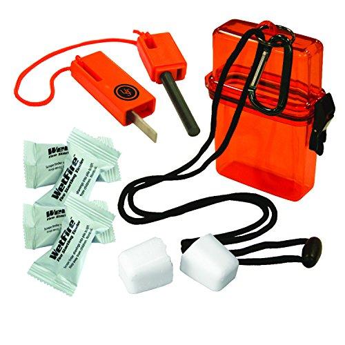 Ultimate Survival Technologies Fire Starter Kit 1.0 in Orange Watertight Case