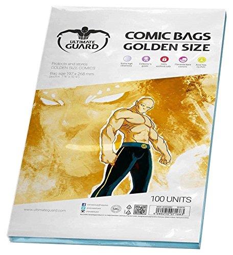 Protege y guarda los cómics hasta 19.69 x 26.67 cm (7 3/4 x 10 1/2 pulgadas) Mayor claridad 100% archivos seguros Libre de ácido, no PVC Cantidad: 100 Incluye: 100 bolsasPresentación: Blíster blando