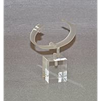 Umei Pack of 10units Clear Acrylic Watch Bracelet Display Stands with Adjustable C-clip