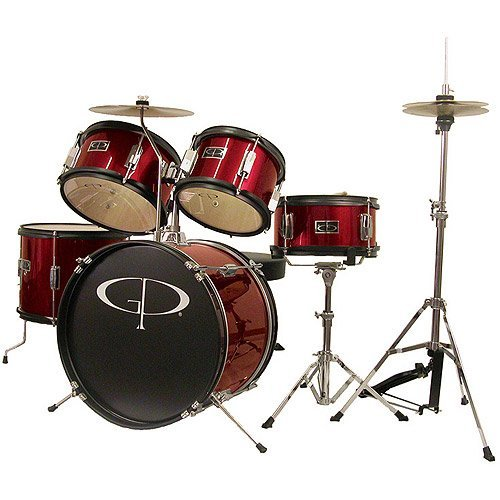 gp-percussion-5-piece-junior-drum-set-red-by-gp-percussion
