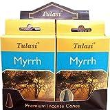 Incienso Tulasi - Myrrh - 4 cajas de 15 conos -