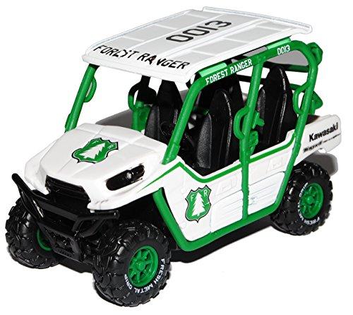 Maisto Kawasaki TeryX4 750 4x4 ATV Weiss 1/32 Modell Motorrad Modell Auto (4 Atv 4 X)