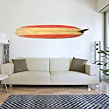 V & C Designs Ltd groß rot Surfbrett Sports Vinyl-Wandtattoo Aufkleber Art Wand Dekoration Wandbild