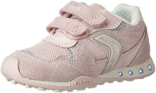 Geox Mädchen JR New Jocker Girl A Low-Top, Pink (Lt Rosec8172), 31 EU - Geox Jocker Girl