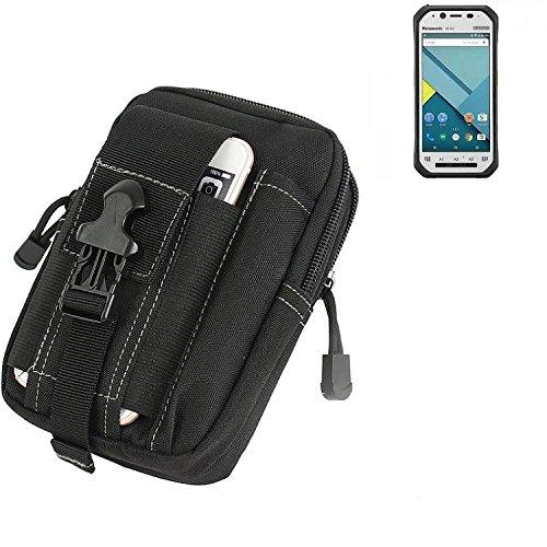 K-S-Trade Gürtel Tasche für Panasonic Toughpad FZ-N1 Gürteltasche Schutzhülle Handy Hülle Smartphone Outdoor Handyhülle schwarz Zusatzfächer