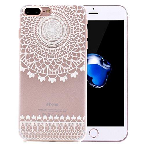 Mesh Flower Pattern Transparente PC Schutzhülle für iPhone 7 Plus by diebelleu ( SKU : Ip7p1456k ) Ip7p1456b