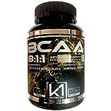 BCAA 8:1:1 100 compresse K1 Nutrition Integratore di Aminoacidi Ramificati 811 con Vitamina b1 e b6 Advanced Leucine Formula - GLUTEN FREE - SENZA LATTOSIO - NON OGM (100 COMPRESSE)