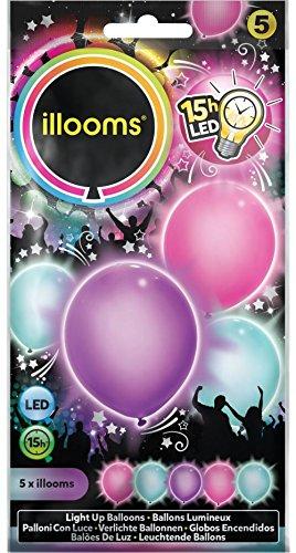 (Illooms 33964 - Girlie Ballon, 5-er Pack)