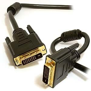 DVI D Deux link Avec Ferrite Cores Mâle Vers Mâle câble Plaqués Or 1 m
