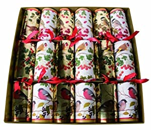 "Christmas Crackers ""Winter Birds"" - Caspari by Caspari"