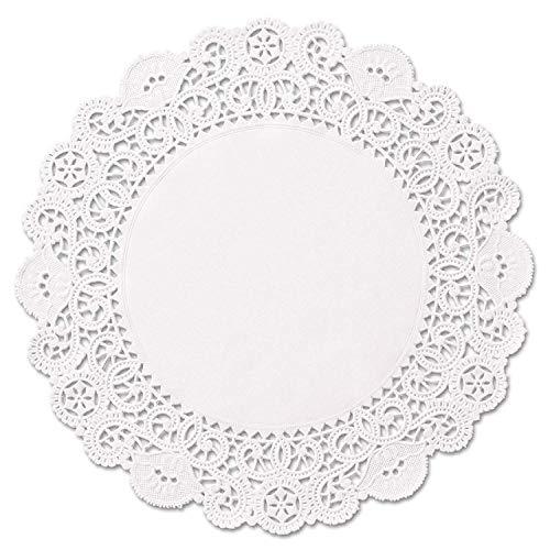 Spitzen-Deckchen, rund, Weiß 10
