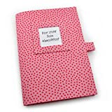 U-Heft Hülle inkl. 2 Steckfächern - Wunschtext - rosa