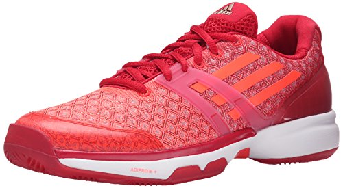 Chaussures Adidas Performance Adizero Ubersonic W Formation, choc rose / blanc / semi-solaire Slime, Power Red/Solar Red/White
