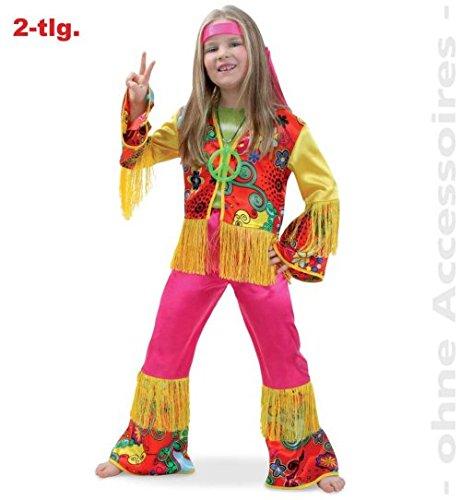 Hippie Girl 152 Oberteil + Hose Fasching Kinder - (Kid Kostüme Elvis)
