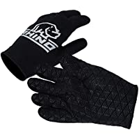 Rhino Pro Full Finger Stick Mitts Rugby Sport Player Hand Protection Gloves Black