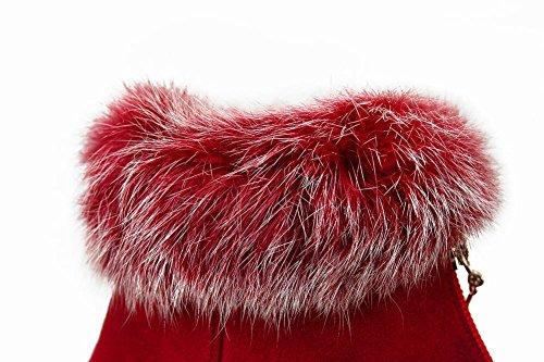 MissSaSa Donna Scarpe col Tacco Alto Gattino Affascinante dan Neve Rosso