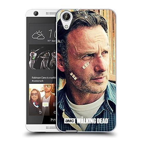 Officiel AMC The Walking Dead Coupes Et Bandages Rick Grimes Étui Coque en Gel molle pour HTC Desire 626