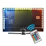 XCSOURCE® 39inches LED TV Bias Beleuchtung Hintergrundbeleuchtung Streifen RGB ändernde Farbe Fernbedienung Streifen Kit, USB Powered, Ambient Hintergrund Beleuchtung für HDTV TV PC Monitor LD1097