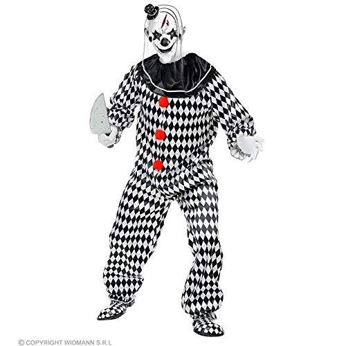 (Lively Moments Kostüm Zirkus Clown weiß-schwarz / Horrorclown Halloweenkostüm / Pierrot Fasching Overall Gr. XXL = 56)