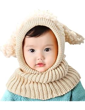 Bienvenu Baby Boy, girl pullover con cappuccio sciarpa invernale lavorato a maglia cappello con paraorecchie