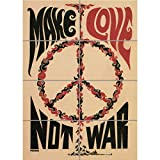 Doppelganger33 LTD Propaganda Peace War Love CND Nuclear Charity Usa Wand Kunst Multi Panel Poster drucken 33x47 Zoll