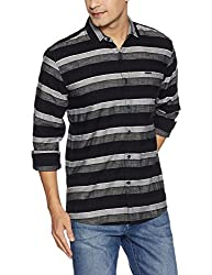 Wrangler Mens Casual Shirt (8907649199053_W2655010421R_L_Black)