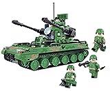Modbrix Flakpanzer Bausteine NATO Panzer inkl. 5 Minifigur Soldaten, Konstruktionsspielzeug 517 Teile, 28 cm