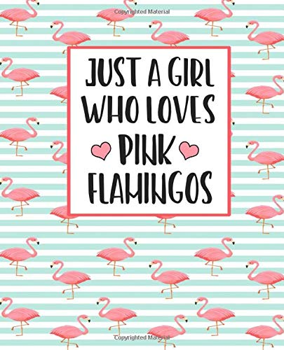Just A Girl Who Loves Pink Flamingos: Adorable Pink Flamingo Journal Perfect for any Pink Flamingo Lover Great For Summer Journaling 100 Pages (Pink Supplies Flamingo Party)