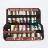 Jeu de 72 crayons de couleur, Remplissage de mine de couleur à colorier, jeu de peinture pour rideau à 3 volets, pour adultes, artistes, enfants