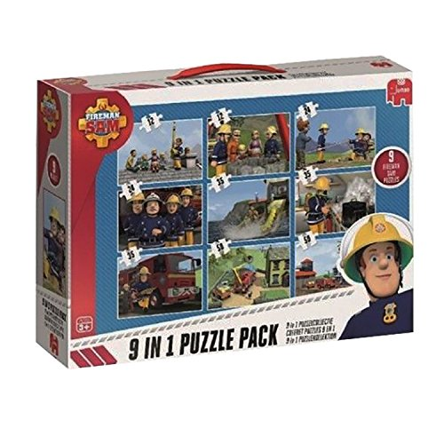 feuerwehrmann sam puzzlebuch Jumbo 17338 - Fireman Sam 9-in-1 Puzzle Mix