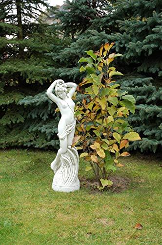 gartendekoparadies.de Massive große Steinfigur erotische Frau Statue aus Steinguss frostfest