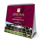 Aston Villa F.C. Official Desk Easel 2018 Calendar - Month To View Desk Format