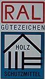 Farben-Budimex Profi Industrie Aqua Holzschutzlasur mit UV-Schutz / Farbton Fichte / 2,5 L / Holzschutzlasur auf Wasserbasis, Speziallasur v. Holzfachhandel für Hölzer im Innen- u. Aussenbereich