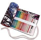 amoyie Sacchetto della matita tela rotolo astuccio per 72 matite colorate (no inclusa matite) - Tramonto