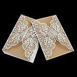 Faltbare Einladungskarte Abdeckung Exquisite aushöhlen Braut Bräutigam Druck Abdeckung für Hochzeit Party verwenden
