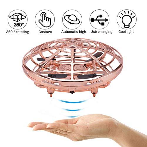 Mini Drohne, für Kinder und Anfänger,UFO Drone Quadrocopter Spielzeug,Wiederaufladbar Pocket Drohne mit LED-Licht für Kinder