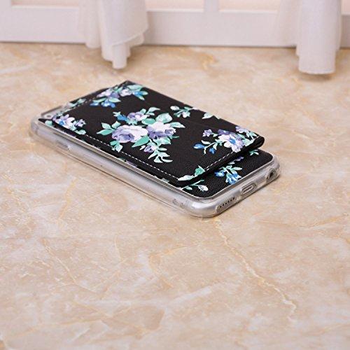 Petit Fleurs fraîches Conception durable antichoc avec Fold clip Case Slot pour carte stand Case Wallet pour iPhone 6S 6 ( Color : 10 , Size : IPhone 6S 6 ) 4