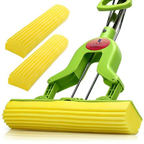 Faltende Wasser Quetschen Kleber mop mop saugfähigen Schwammwischer Haushalts Mopp Mopp Gefaltete Gummi Baumwolle