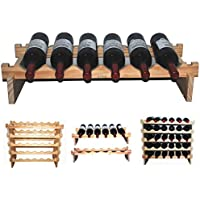 Vislone 24-Einheiten Weinregal Holz Flaschenregal Weinhalter Weinschrank 70 x 22,5 x 70,5 cm Wei/ß