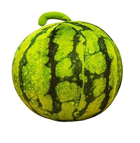 Simulation grün Wassermelone Kissen / kugelförmige Wassermelone Kissen / kreative Kinderspielzeug / Sofa Home Kissen ( größe : 28cm ) (Kreative Wassermelone)