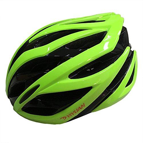 KOOPAN Fahrradhelm, Erwachsener Fahrrad-Sturzhelm-Fahrrad-Sturzhelm-Reithelm Road, Mountainbike Helm, Rot, Grün Weiss Farbe, M(54-58cm), in-Mold, Y-38 (Grün)