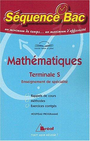 Mathématiques, Terminale S, enseignement de spécialité