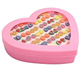 #7: Kurtzy Multicolor Plastic 36 Pairs Combo Stud Earrings For Girls