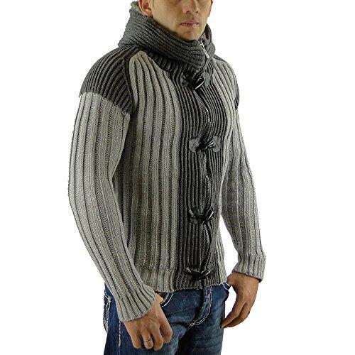 REDBRIDGE bY cIPO bAXX & pull à capuche en tricot taille s à xXL Gris - Gris