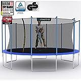 Kinetic Sports Outdoor Trampolin TPLH16 Gartentrampolin für Kinder und Erwachsene mit Randabdeckung und Sicherheitsnetz Ø 490 cm