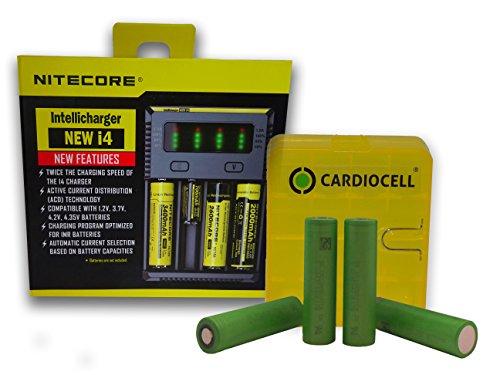 Galleria fotografica Nitecore New I4Intelli Charge Caricabatteria per batterie agli ioni di litio/IMR/Ni-MH/Ni-Cd 266502265018650184901835017670175001733516340RCR1231450010440AA AAA batterie AAAA batteria inclusa 4X SONY Konion vtc6in robusto batteria scatola di Card iocell